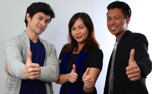 Vin, Wyn, and Chris for the American Institute for English Proficiency, Makati and Quezon City, Philippines