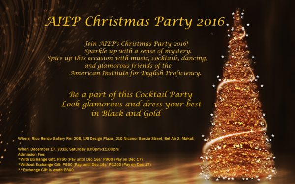 A Black and Gold Christmas Party